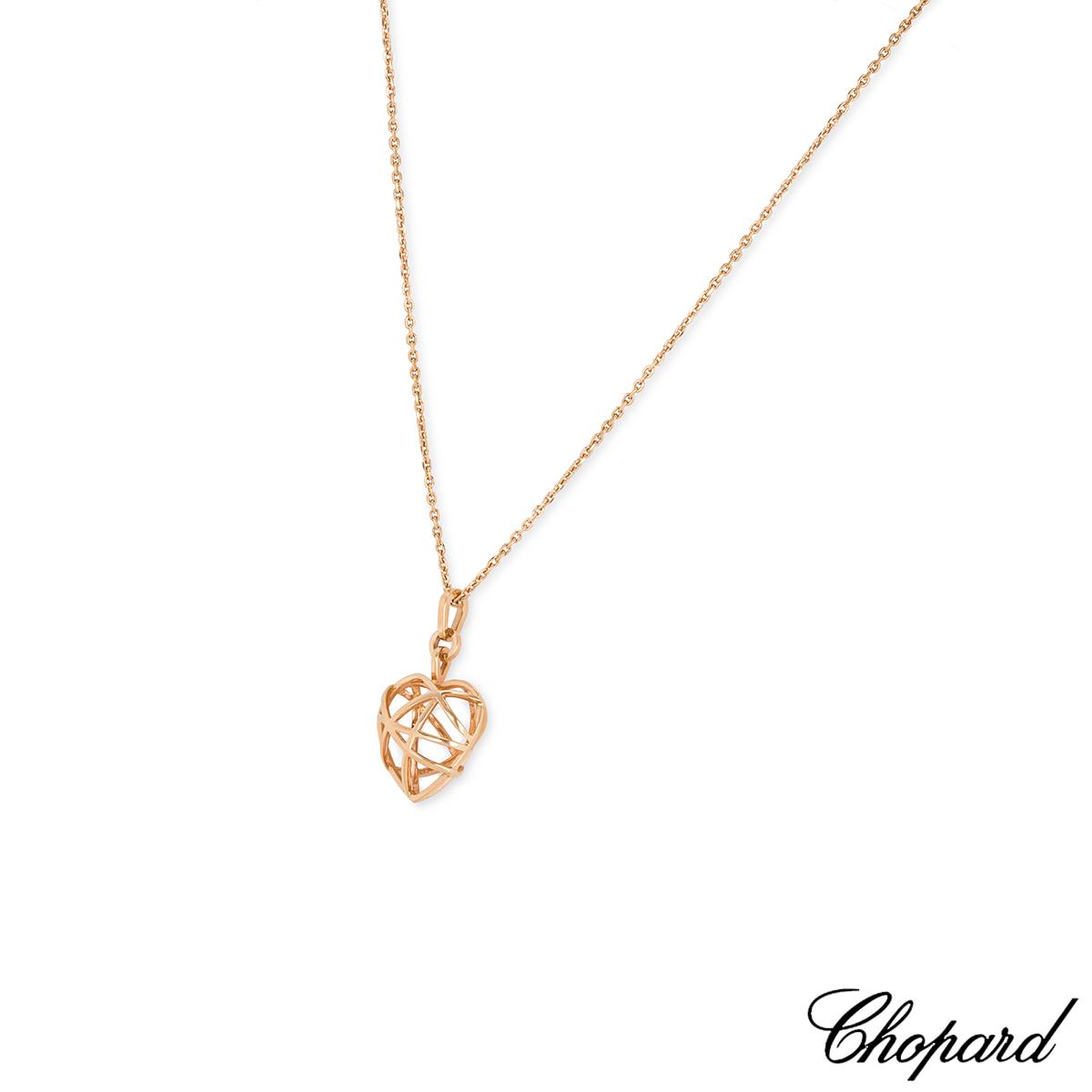 Chopard Rose Gold Guli Heart Pendant
